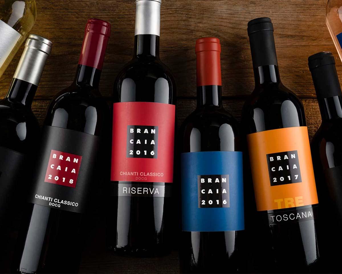 Brancaia Weinflaschen